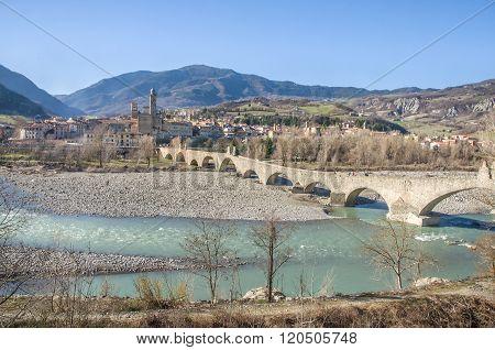 Bobbio - Val Trebbia River - Bridge - Piacenza - Emilia Romagna Region - Italy