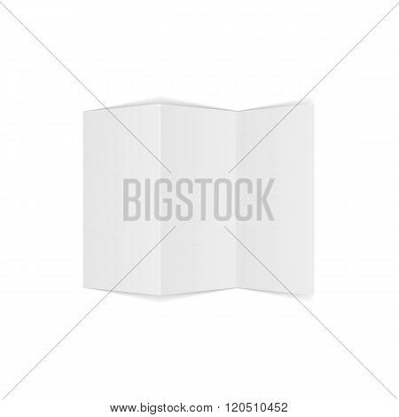 Triple fold a4 Document Mockup