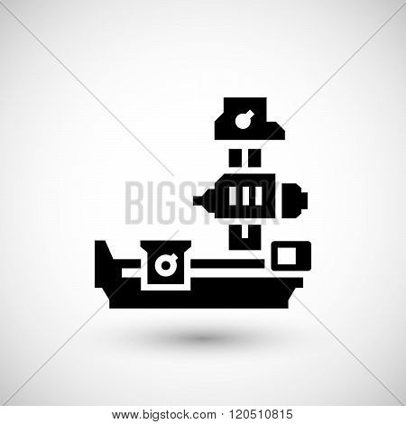 Horizontal boring machine icon