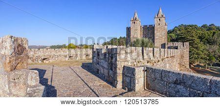 Santa Maria da Feira, Portugal - October 12, 2015: Santa Maria da Feira Castle.