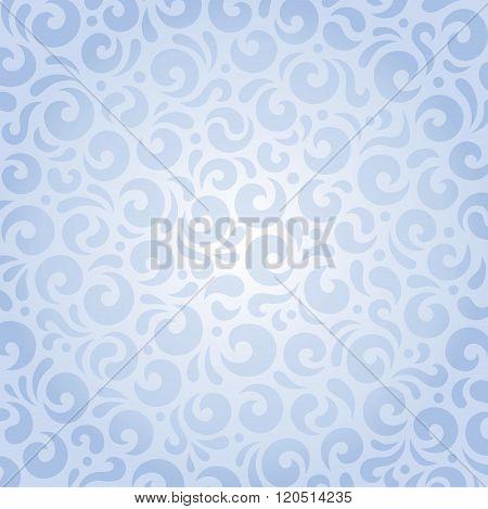 Blue seamless pattern invitation design