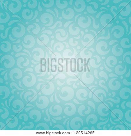 Retro green blue holiday vintage background design