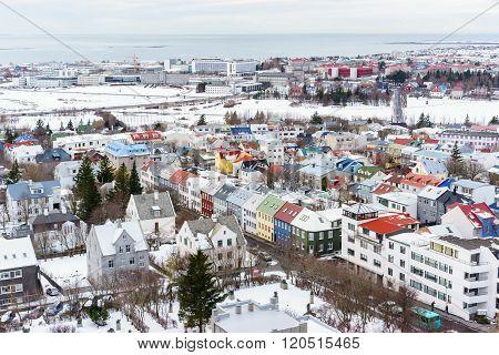View Of Reykjavik Iceland