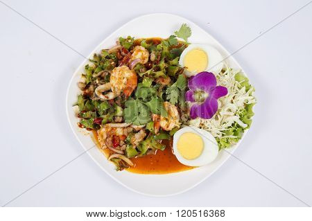 Winged Bean Salad With Shrimp