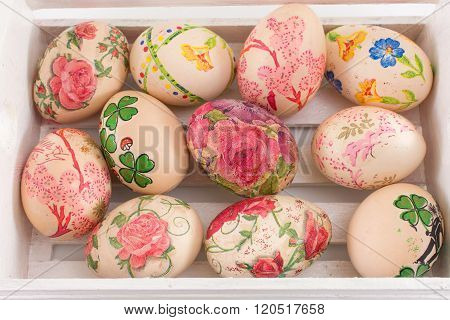 Decoupage Decorated Easter Eggs