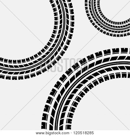 Tire track circles