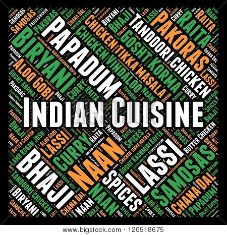 Indian cuisine word cloud concept