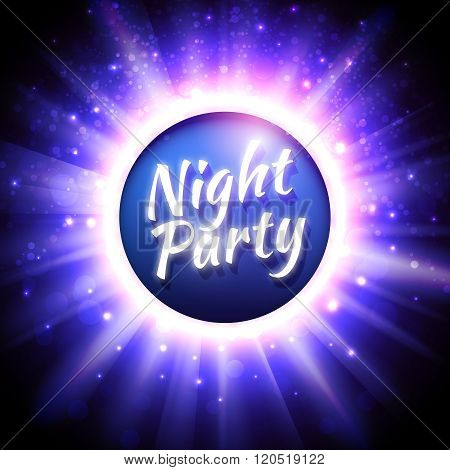 Vector flyer template for night party