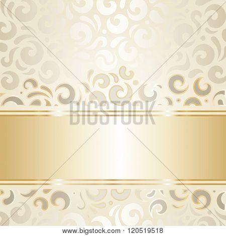 Retro wedding design ecru & gold