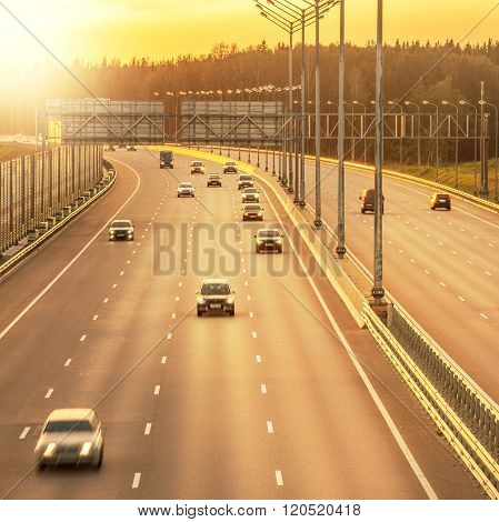 View Of The New Highway.