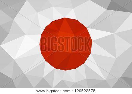 Japan low poly triangulation flag
