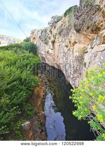 Vouliagmeni lake in Attica Greece - greek lake