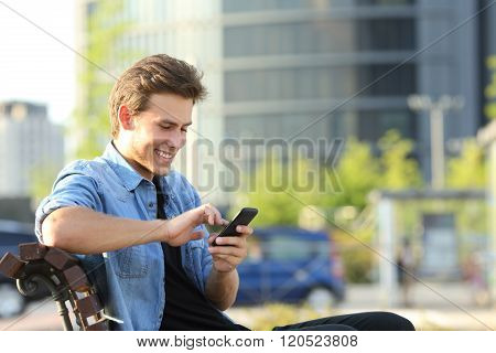 Entrepreneur Working Texting In A Mobile Phone