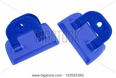 Clamps Isolated - Blue