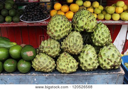 Fruit Stand With Chirimoya