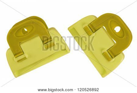 Clamps Isolated - Yellow
