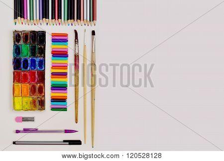 Painter Set on white background