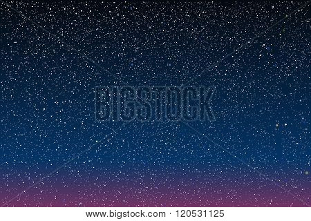 Vector background. Starry night Sky. Eps 10.