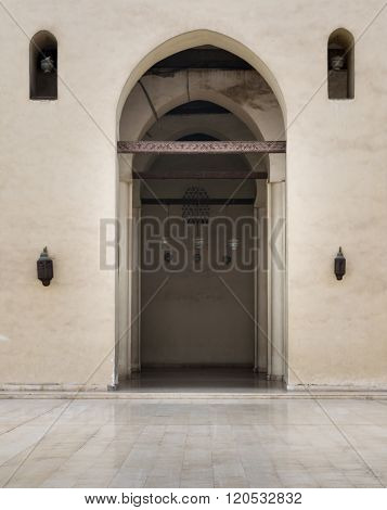One Of The Arches Surrounding The Courtyard Of The Enlightened Mosque, Cairo