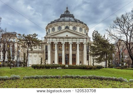 Romanian Athenaeum In Bucharest