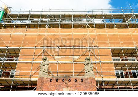 Netherlands - Leidschendam - Circa April 2014: Renovation Of The Town Hall.
