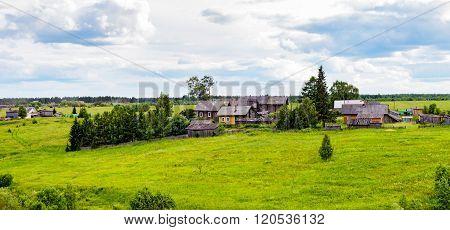 panorama of russian village