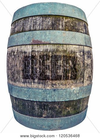 Isolated Vintage Beer Barrel