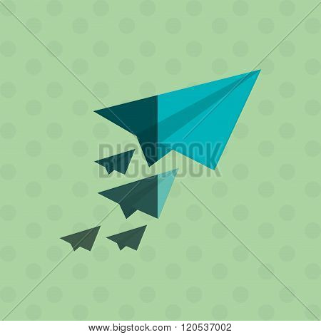 paperplane icon design