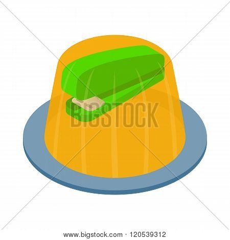 Stapler in the jelly icon, isometric 3d style