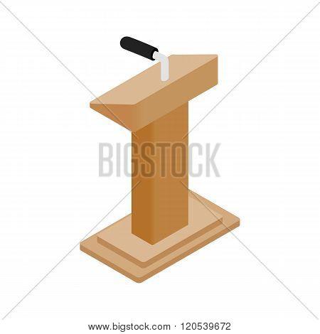 Wooden podium tribune rostrum stand