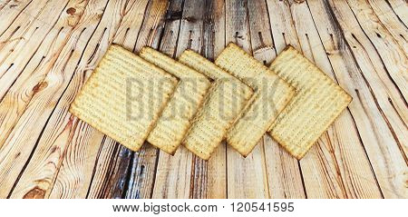 Background. Matzoh Jewish Passover Bread