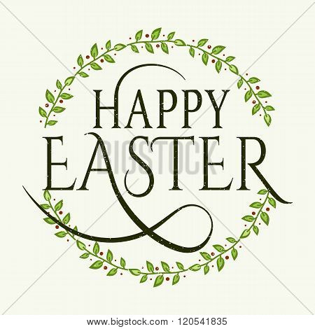 Happy Easter logotype, badge, icon, logo template, flyer, greetings card