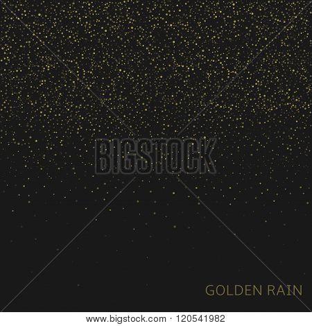 Golden rain background