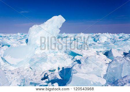 Baikal ice blocks