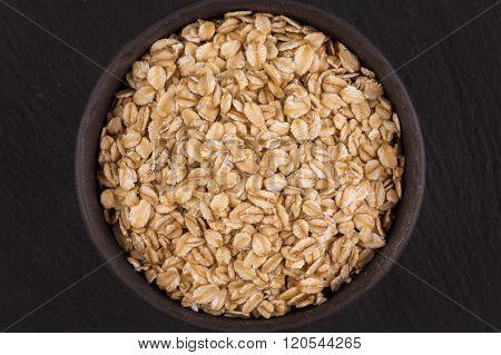 oat flakes on dark