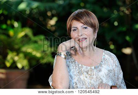 Headshot Of Old Lady