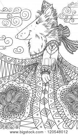 She-wolf in a sundress