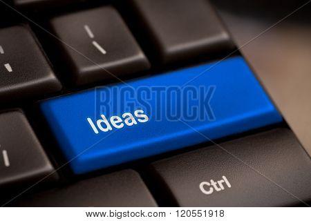 Idea Word On Keyboard