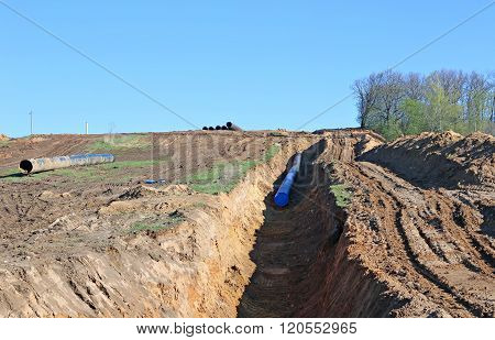Construction Of A Long Industrial Pipeline