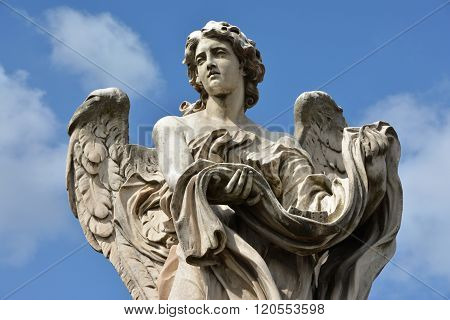 Angel With Garment And Dice From Ponte Sant'angelo, In Rome
