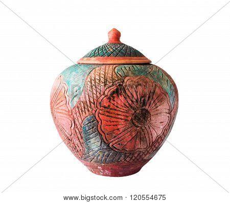 Old Big Earthen Jar