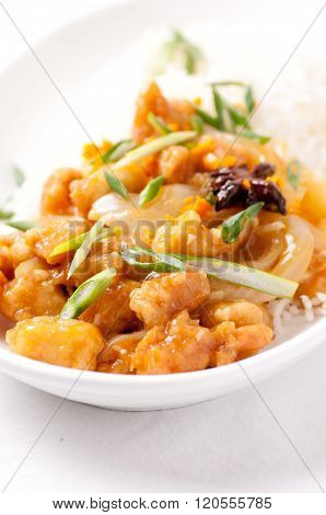 Orange Chicken And Rice