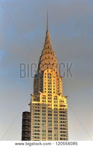 Chrysler Building At Sunset, New York City