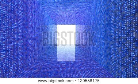 Tunnel Of Random Letters Big Data Concept