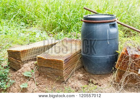 Rice Seeding Tray And Plastic Drums Container