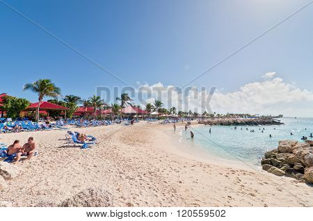 Sandy Beach In The Bahamas