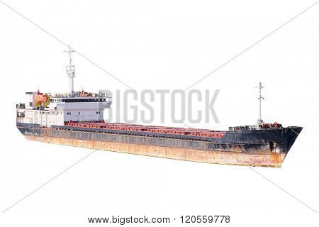 The image of cargo ships in the port of Sevastopol, Crimea