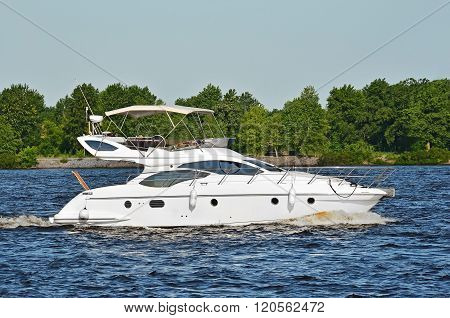 Motorboat On The Dnieper River