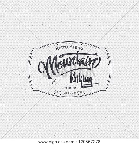Mountain biking sign  handmade differences, made using calligraphy and lettering It can be used as i
