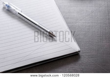 Notebook On Desk